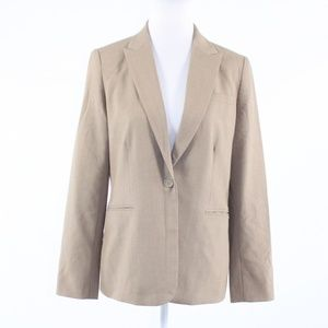 Calvin Klein khaki single button blazer jacket M